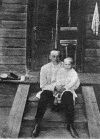 С.В.Рахманинов с дочерью Таней. Ивановка. 1911 г